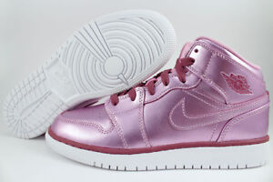 84fbc2da97ae NIKE AIR JORDAN 1 MID METALLIC PINK RED PURPLE RETRO HIGH WOMEN ...