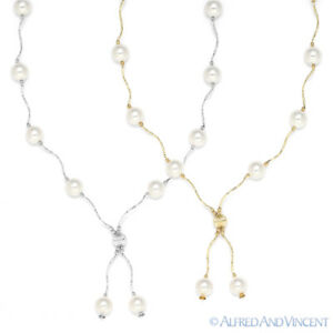 8mm-White-Freshwater-Pearl-Ladies-Beaded-Y-Necklace-in-14k-Yellow-or-White-Gold