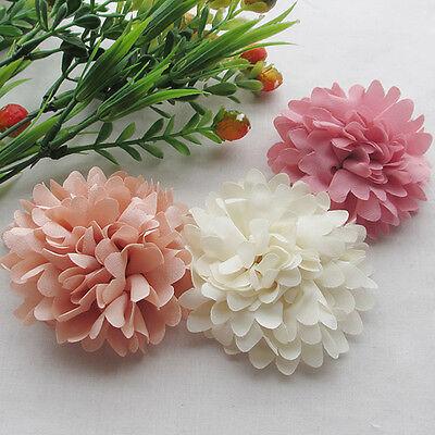 9/45pcs 75mm Big Ribbon Flowers Bows Rose Wedding Craft Decor Appliques MIX Lot