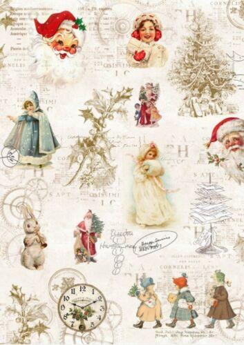 Decoupage-Serviettentechnik-Softpapier-Vintage-Nostalgie-Retro-Weihnachten-12037