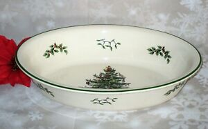 Spode-Christmas-Tree-Porcelain-Large-Deep-Oval-Serving-Bowl-Dish-Casserole-12-5-034