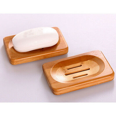 Terrific Natural Bamboo Soap Dish Storage Holder Bath Shower Plate Bathroom USJB