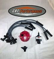 Jeep Wrangler Ignition Tune Up Upgrade Kit 1998 1999 Tj 4.0l 242 Red Cap
