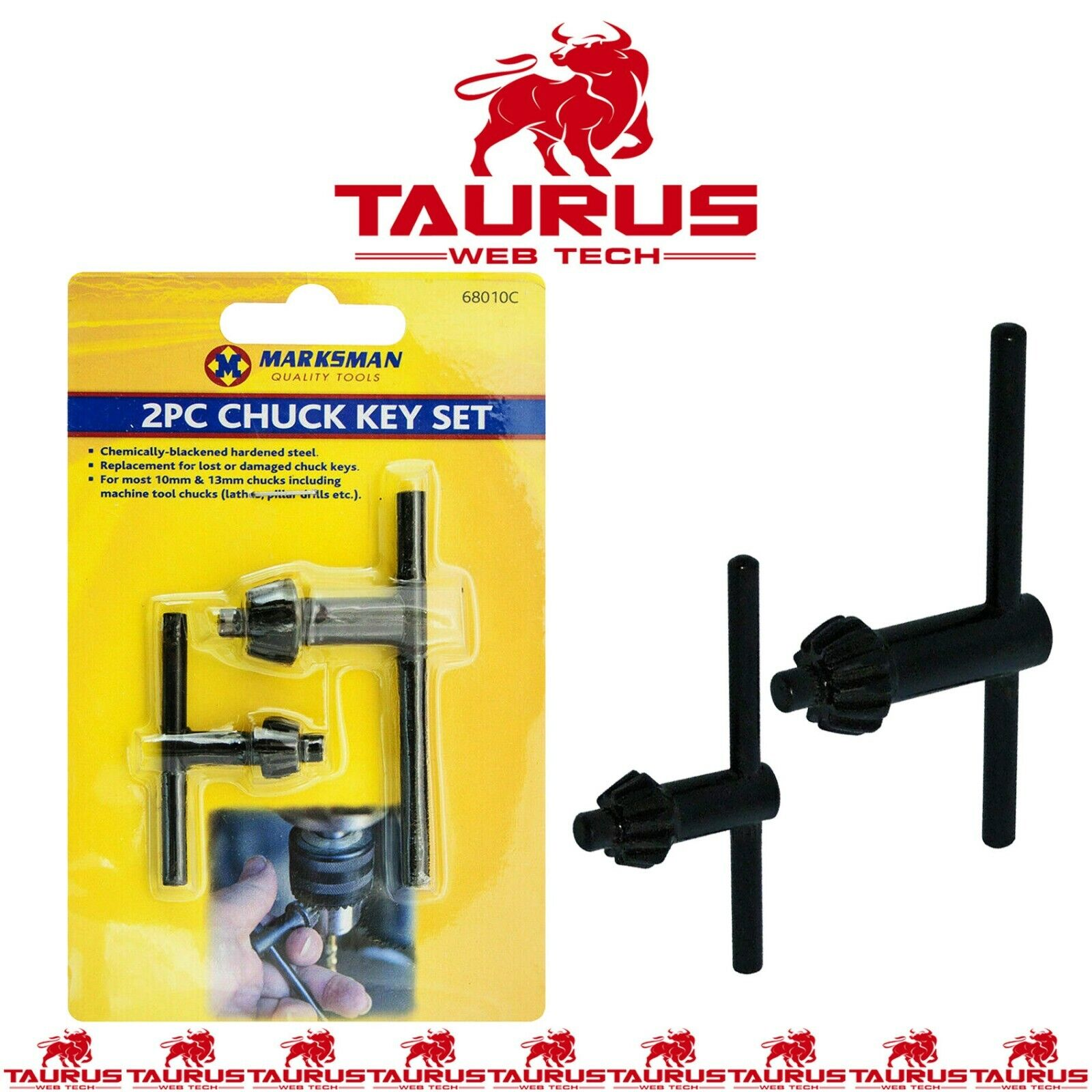 2x CHUCK Key Set Drill Machine Lathes Pillars Tools Home Garage DIY UK FREE P&P