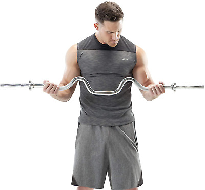Details about  /2.2//1.8M Barbell Curling Barbell Weight Exercise Home Fitness Exercise Equipment