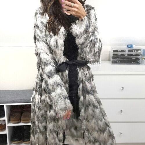 BYRON LARS Rare fringe tiered shag sweater jacket
