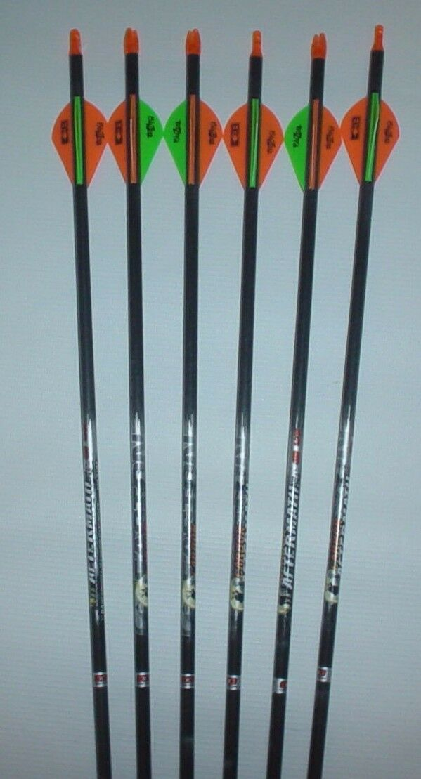 6-- Easton Aftermath 400 Carbon Arrows w  Blazer Vanes  WILL CUT TO LENGTH