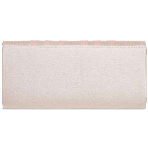 CASPAR TA390 Damen Satin Clutch Tasche Abendtasche schlicht elegant Faltenmuster