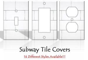 Image Is Loading Subway Tile Backsplash Imitation Light Switch Covers Decor
