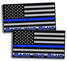 Back The Blue Police Sticker Decal USA Flag Line 2nd Amendment Lives Matter ALL