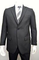 Men's Black 2 Button Classic Fit Suit Size 50l