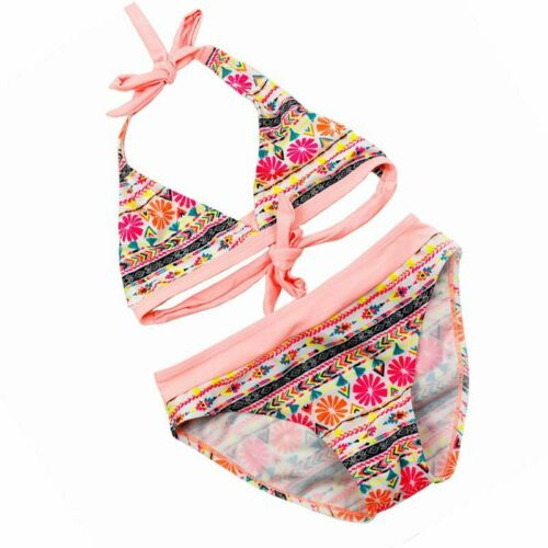 Striped Bikini Set For Girls Cute Beachwear Kids Two Piece Bathing Suit Swimwear