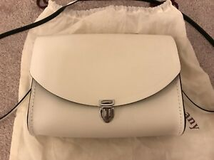 93818248d Image is loading The-Cambridge-Satchel-Company-White-Leather -Medium-Pushlock-