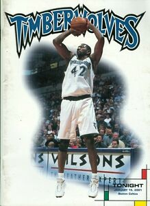 2001 Minnesota Timberwolves vs Boston Celtics Program: Joe Smith
