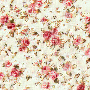 Cotton-100-Med-Weight-Clothes-Dressmaking-Quilt-Fabric-Floral-Rose-Pink-44w