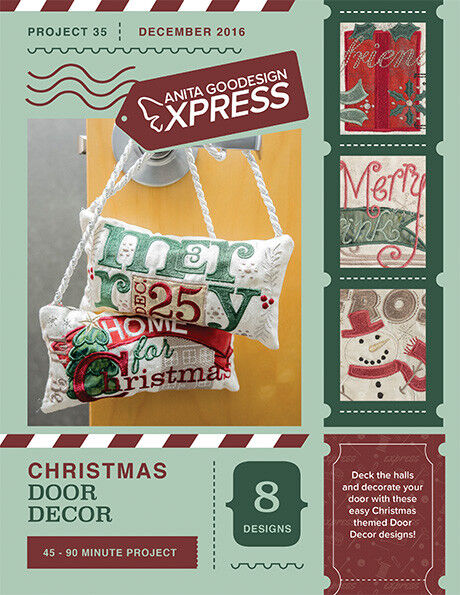 Anita Goodesign Express Christmas Door Decor Embroidery Machine CD (CD ONLY)