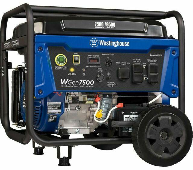 Westinghouse Wgen7500 Generator 7501 For Sale Online Ebay