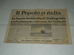GIORNALI-DI-GUERRA-RARI-IL-POPOLO-D-039-ITALIA-LA-FASCIA-FORTIFICATA-DI-STALINGRADO