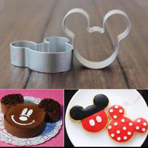5 Un Cortador De Mickey Mouse Para Galletas Pastelería Molde Sugarcraft Pastel Decoración Ebay