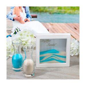 Wedding-Sand-Ceremony-Shadow-Box-Frame-Blended-Family-Unity-Set-Kit-Supplies