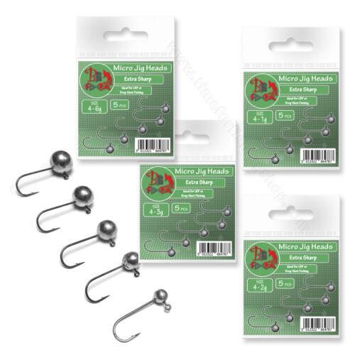 Micro Jig Heads size 4 1-6g LRF Ultra Light Soft Lure Drop Shot Fishing Set