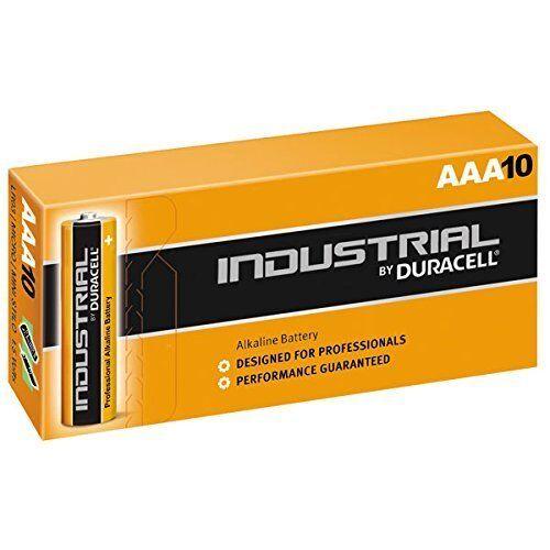 10 x AAA Duracell Industrial Batteries Alkaline MN2400 AAA Battery MN2400-BULK10