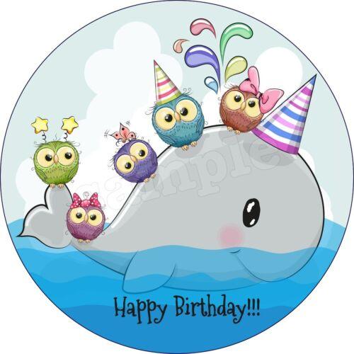 Walfisch Wal Eßbar Tortenaufleger Party Deko Geburtstag Tortenbild Muffin Neu