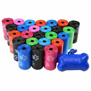 Dog-Poop-Bags-Roll-Waste-Poo-Puppy-Clean-Garbage-Pick-Up-Refills-Colors-Clean