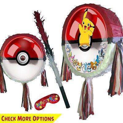 Pokeball  piñata birthday boy smash pop party game pikachu Pokemon personalized