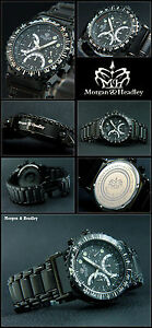 Kenntnisreich Black Tiger -hochwertig & Luxus Sportlich Chronograph Massive In Black Neu Spezieller Sommer Sale