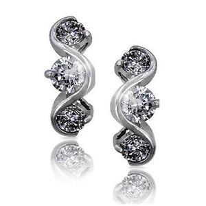 3-Stone-Diamond-Alternative-Swirl-Dangle-Earrings-14k-White-Over-925-SS