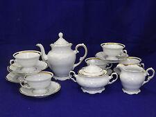 Walbrzych Casa Oro White with Gold Tea Set