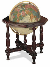 Replogle Statesman Illuminated 20 Inch Floor World Globe - Antique