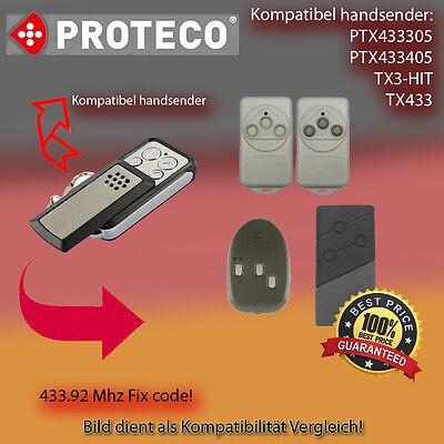 Clone transmitter 433,92Mhz PROTECO HIT PROTECO TX3 compatible remote control