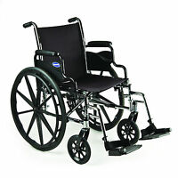 Invacare Tracer Sx5 Lightweight Wheelchair Flip Back Desk Length Arms W/footrest