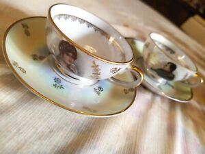 service à café en porcelaine véritable avec dorures  Napoléon I et Joséphine