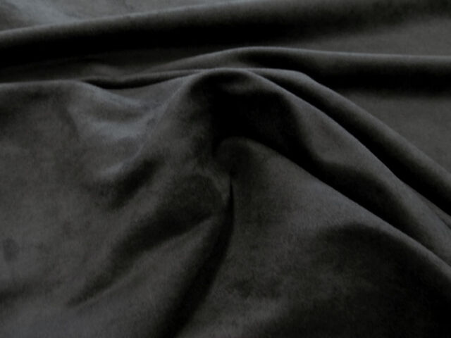 Microsuede Microfiber Passion Black Suede Upholstery Fabric 58