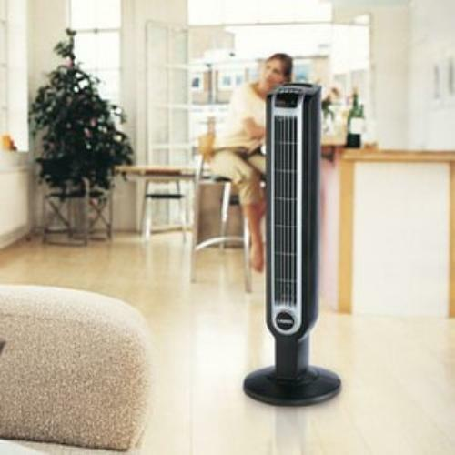 Remote 3 Speed Lasko 2511 Tower Fan with Remote Control Programmable,