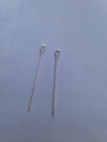 "10 .925 STERLING SILVER Eye Pins 1/"" Long L@@K !!!"