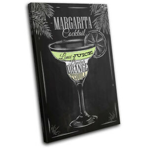 Margarita-Cocktail-Alcohol-Bar-Vintage-SINGLE-CANVAS-WALL-ART-Picture-Print