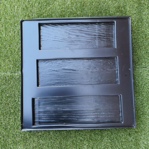 WODEN BOARD Set of 3 Molds for Wall decoration Plaster Concrete Garden Patio