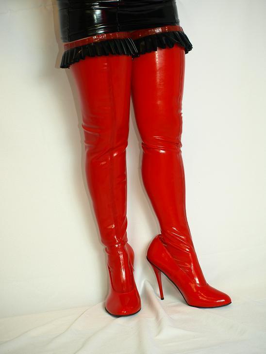 High heels, stiefel lack-pu 36 37 38 39 40 41 42 43 44 45 46 47 Bolingier FS900