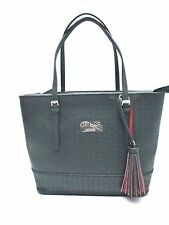 GUESS Women's Handbag*Decimals*Black w/ Silver Tone Hardware Shoulder Purse New