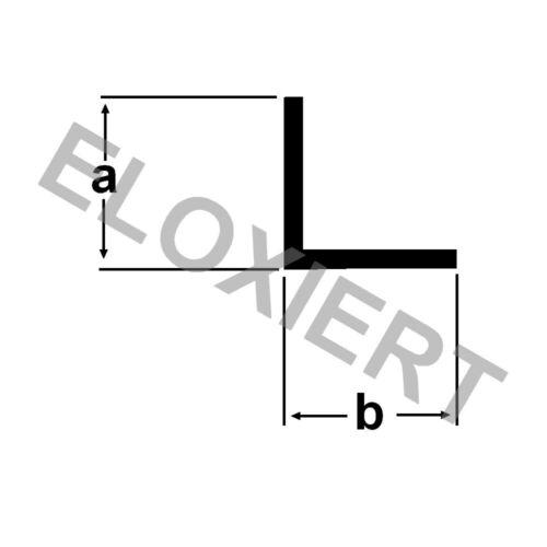 1,50€//m Alu Winkel 12x12x1mm ELOXIERT  Aluprofil 2 Meter Winkelstange