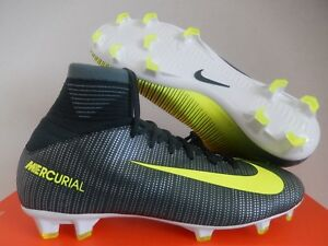 NIKE JR MERCURIAL SUPERFLY V CR7 FG SEAWEED SZ 5.5Y-WOMENS SZ 7 [852483-376]