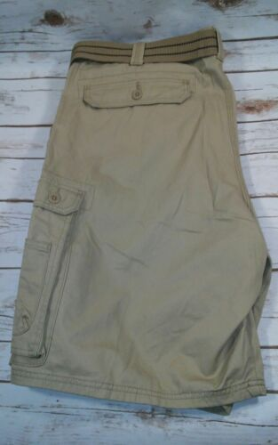 Bourbon or Gray LEE Men/'s Big /& Tall Dungarees Belted Wyoming Cargo Short Khaki
