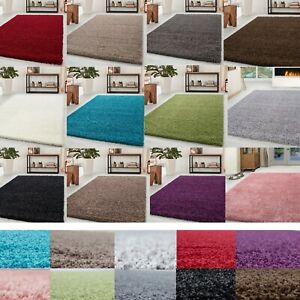 XLARGE-Luxurious-Modern-5cm-Thick-High-Pile-Plain-Super-Soft-NON-SHED-Shaggy-Rug