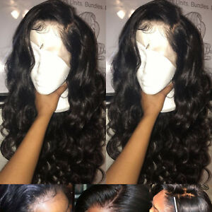 Glueless-4X4-U-Part-Lace-Front-Wig-Real-Soft-Malaysian-Virgin-Human-Hair-Black