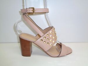 5a7acdbeca8ac Michael Kors Size 8.5 M VALENCIA Beige Leather Studded Sandals New ...