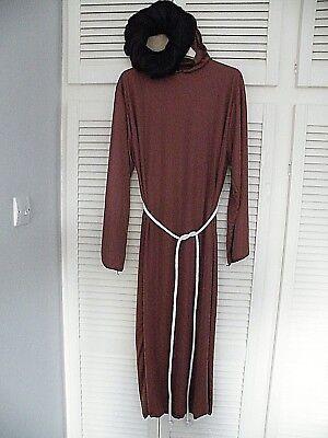 """""""monk's Costume"""" + Parrucca-nuovo Senza Etichetta-mostra Il Titolo Originale Processi Di Tintura Meticolosi"""